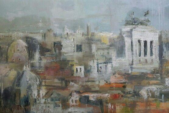 Roma,panorama 80x120 olio su tela
