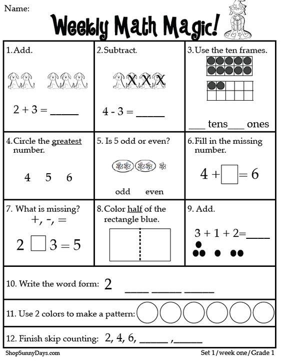 math worksheet : first grade ccss math magic  first grade math and classroom freebies : Free Common Core Math Worksheets For First Grade