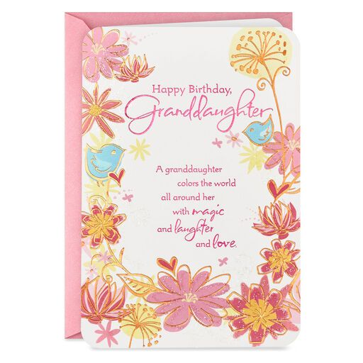 My Wishes For You Birthday Card For Granddaughter Greeting Cards Hallmark Hallmark Cards Birthday Birthday Cards Birthday Cards For Her