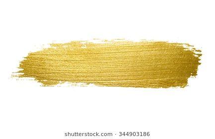 Gold Paint Brush Stroke Abstract Gold Glittering Textured Art Illustration Gold Paint Brush Background Brush Strokes