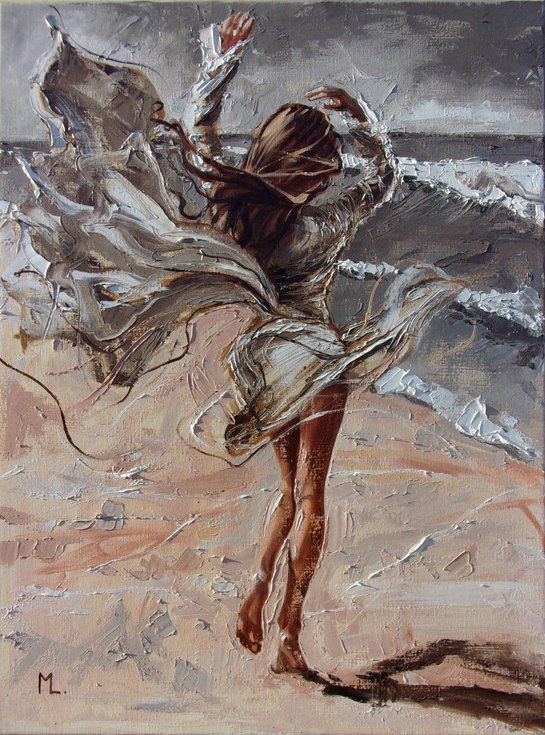 "Buy "" WIND DANCE "" SUN SKY SEA SAND liGHt  ORIGINAL OIL PAINTING, GIFT, PALETTE KNIFE, Oil painting by Monika Luniak on Artfinder. Discover thousands of other original paintings, prints, sculptures and photography from independent artists."