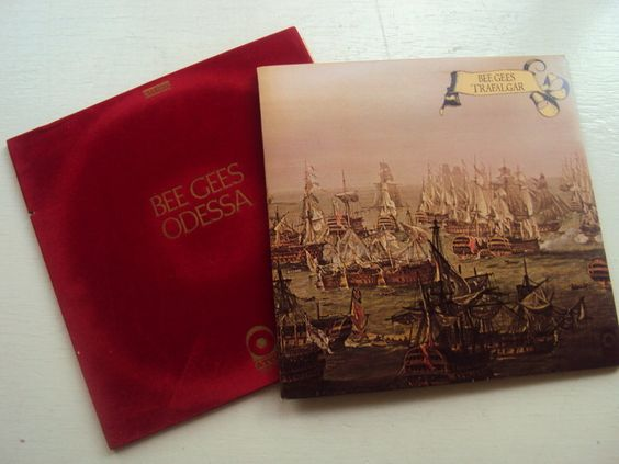 """Lot of """"Bee Gees"""" Vintage Vinyl Records"""