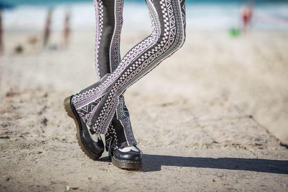 Legging Flare Étnica