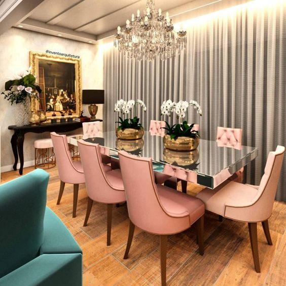 Sala de jantar decorada: 70 belas ideias de decoração! - Dicas Decor