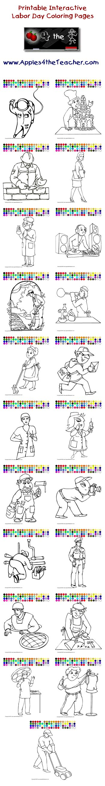Apples4theteacher Coloring Pages : Labor day and coloring pages on pinterest