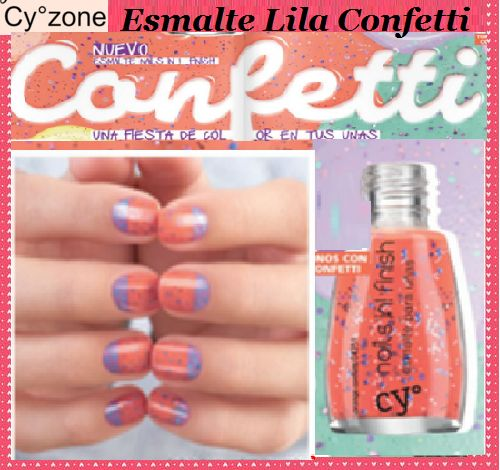 CY° NAILS IN! FINISH Esmalte para Uñas con confetti Color: ORANGE CONFETTI Para…