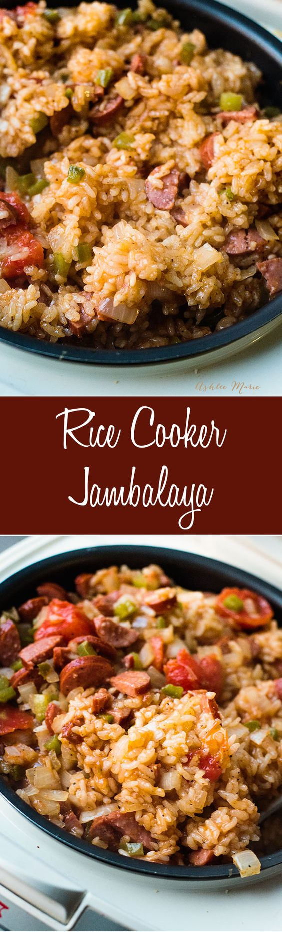 made in a rice cooker this spicy jambalaya is easy to make and tastes amazing