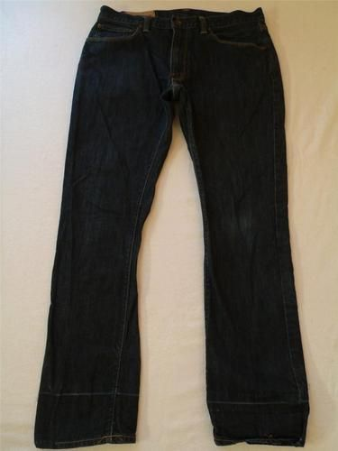 Mens Gap Jeans 31 x 29 Straight Fit Low Rise Blue Denim Pants