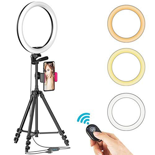 12 Selfie Ring Light With Tripod Stand In 2020 Selfie Ring Light Led Selfie Ring Light Cell Phone Holder