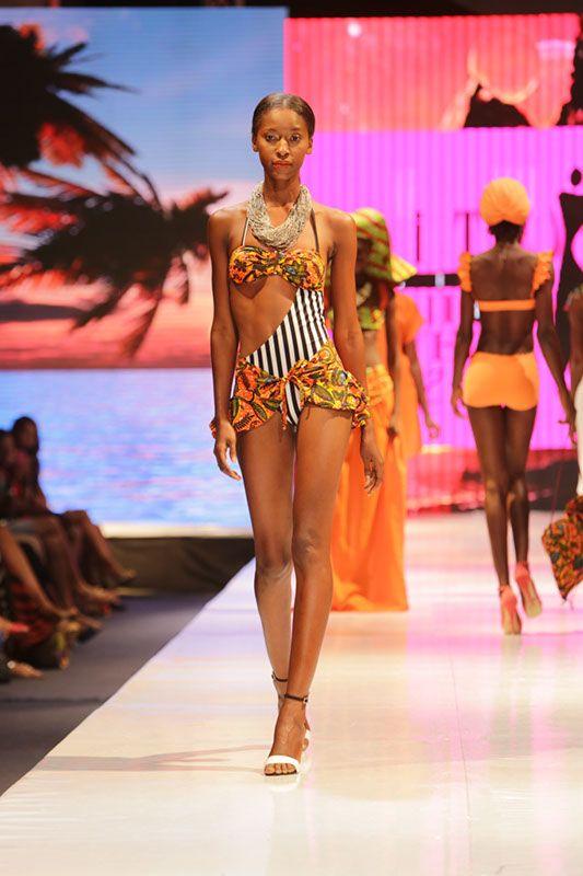 Aya Morrison Glitz Africa Fashion Week #African #Print #Swimwear