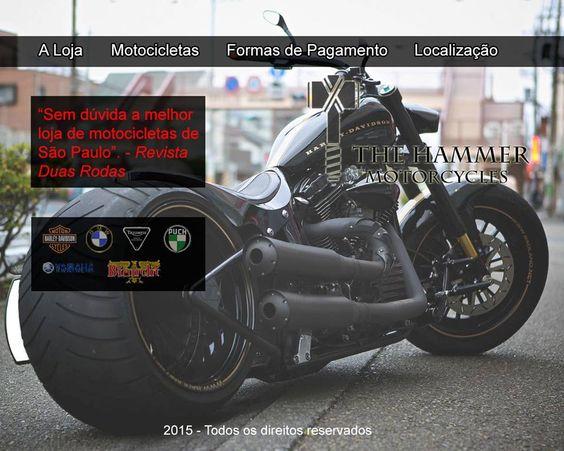 Ideia de layout para site de venda de motos