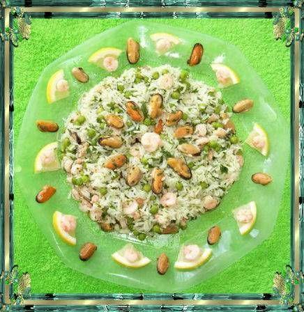Insalata di riso gamberetti e cozze