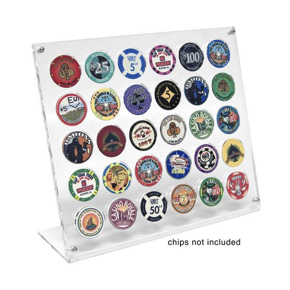 30 Poker Chip Museum Quality Acrylic Display Stand - Casino Supply