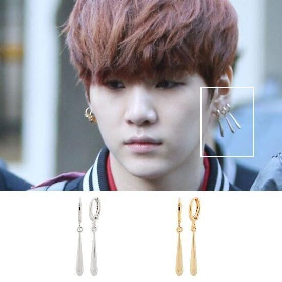 cheapest fashion style utterly stylish SUGA EARRINGS   Bts earrings, Earrings, Bts bangtan boy