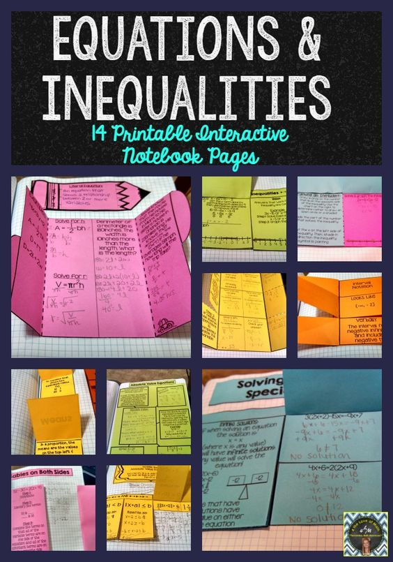 14 Printable Interactive Notebook Pages. Detailed Instructions & Photographs Included!! ($)