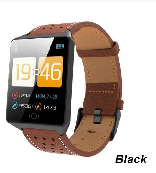 Best Price Bluetooth Smart Watches For Men Waterproof Ip67 Sports Camera Call Leather Fitness Smart Watch Men Click The P In 2020 Smartwatch Neuer Smart Bluetooth