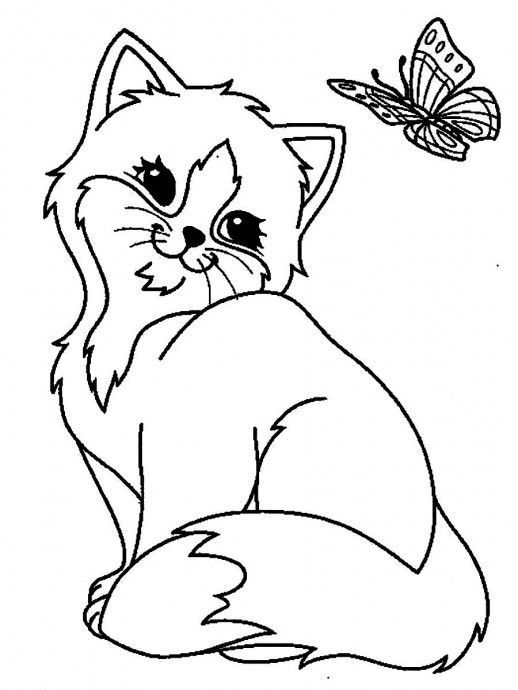 Cute Big Cat Coloring Pages Animal Coloring Pages Cat Coloring Page Kittens Coloring