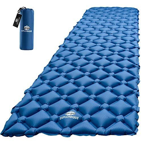 Explonique Camping Sleeping Pad Best Inflatable Ultralight Mat For Backpacking Hiking Traveling Compact Li Camping Sleeping Pad Sleeping Pads Camping Mat