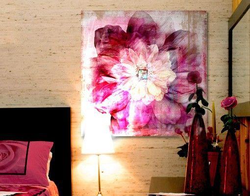 Leinwandbild Grunge Flower