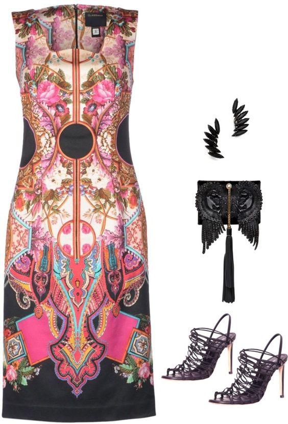 SevenRoses: Cavalli, Knee Length Dress