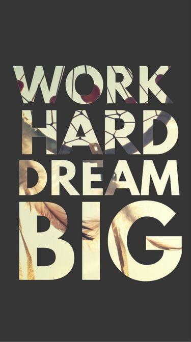 Work Hard Dream Big Wallpaper Iphone