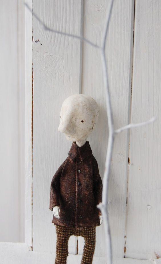 Paper clay man puppet sculpture paperclay pinterest