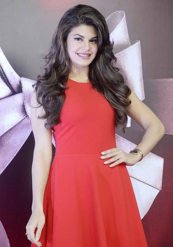 Jacqueline Fernandez in a short red dress. Hot jacqueline fernandez, red, hot, sexy, southie, southie.in, Hot Ladies in Shades of Red