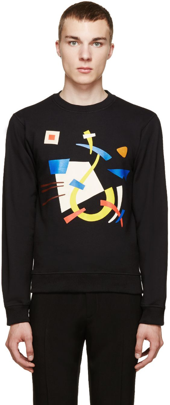 J.W.Anderson Black Abstract Print Sweatshirt