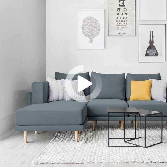 Modular Scandi Style Sofa Clooods Pastel Blue 247cm Wide In 2020 Modular Sofa Sofa Scandi Style