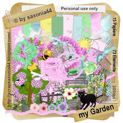 saxonia44: My Garden. Colección de papeles y elementos inspirados en la primavera.