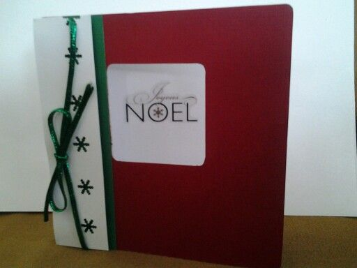 """Handmade """"Noel"""" Christmas greeting card."""