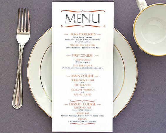 Modern Menu Cards Typography Bracket Design by PaperbyCharmCat, $18.00