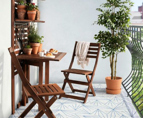 Pplar furniture backyards and balconies - Petite table pliable ...