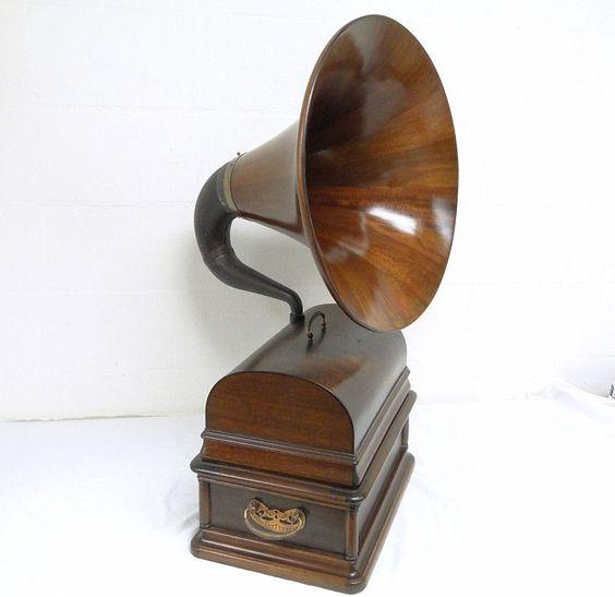 "Edison Opera Phonograph 4 min Player Mahonany Master 21"" Horn Model A Type SM #Edison"