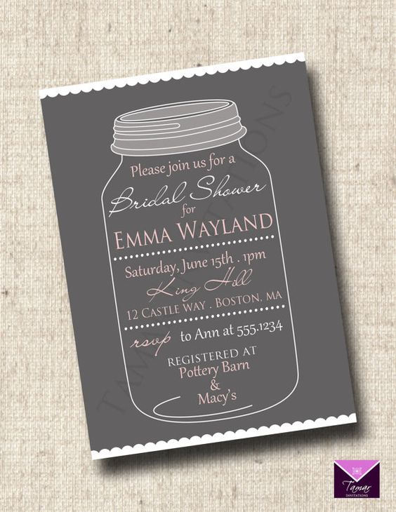 Printable Bridal or Baby Shower Invitation  by TamarInvitations, $12.50
