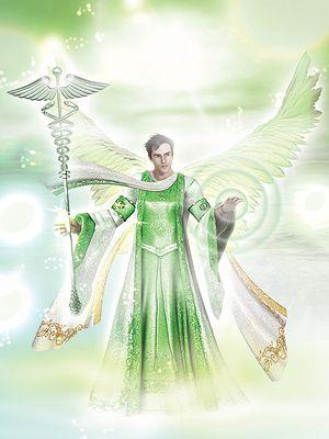 ♪ Arcángel Rafael envuelve en tu llama verde esmeralda a todos mis hermanos en la luz, sana nuestros cuerpos y mentes, que nada negativo nos afecte y que lo que no provenga de Dios, sea eliminado definitivamente. Amén.