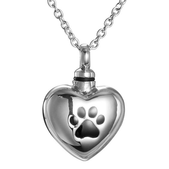 amist warm heart dog paw print cremation jewelry keepsake. Black Bedroom Furniture Sets. Home Design Ideas
