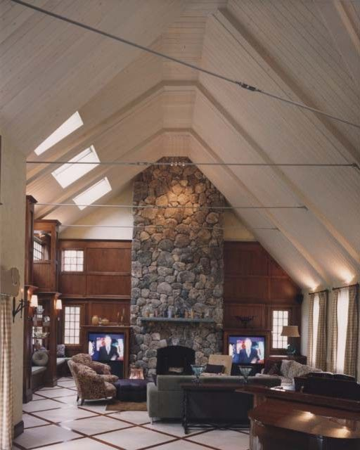 floor to ceiling stone fireplace ideas   ... -great-rooms ...