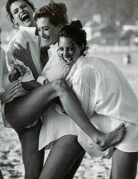 Female fashion models - Linda, Tatjana, and Christy - Repinned by UXSherlock.