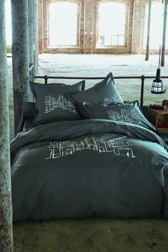 parure upper east side parure de linge de lit en percale. Black Bedroom Furniture Sets. Home Design Ideas