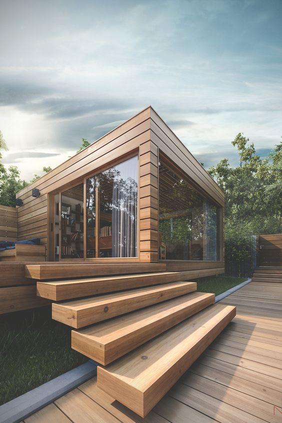 Holz Fassade Haus Japan modern