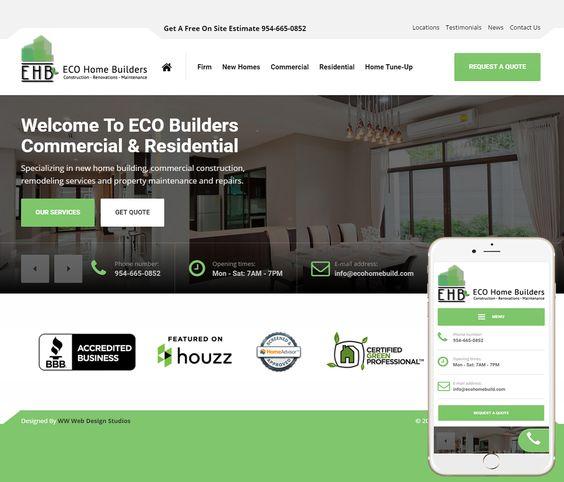 General Contractor Website Design - http://wwwebdesignstudios.com ...