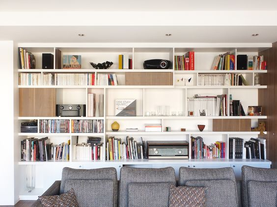 r novation appartement paris 14 biblioth que sur mesure. Black Bedroom Furniture Sets. Home Design Ideas