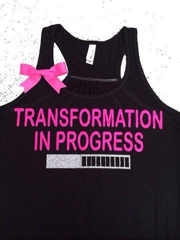 Transformation in Progress Tank - Ruffles with Love - Women's Fitness