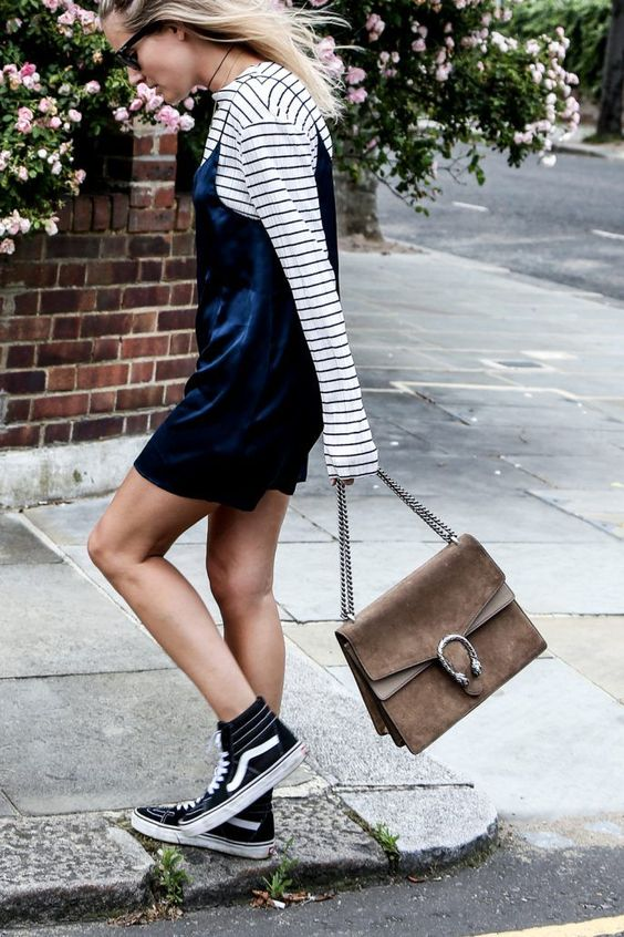 Stripes. Slip dresses. Vans. And Gucci. What's not to love? @thecoveteur