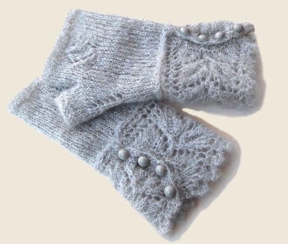 Mitaines de crochet en tricot pinterest photos - Comment tricoter des mitaines avec doigts ...