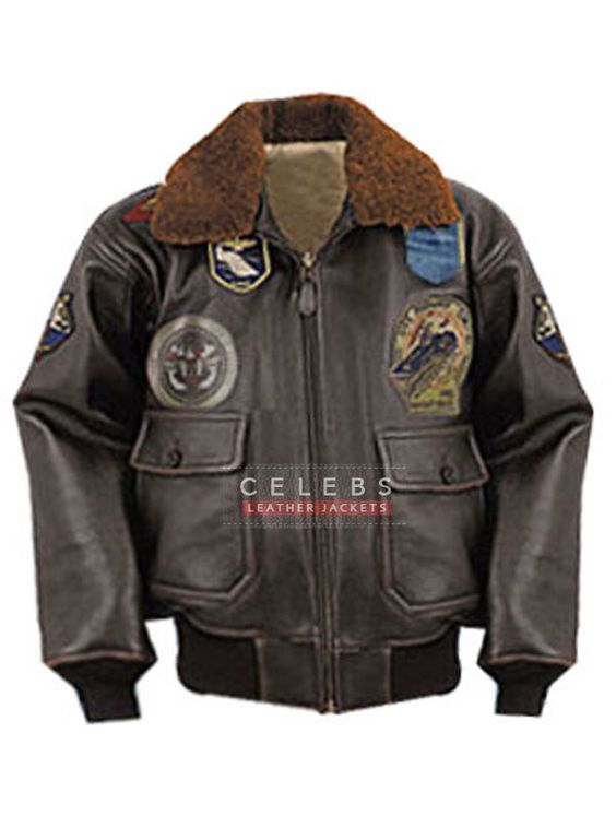 Top Gun Tom Cruise Bomber Leather Jacket /Costume | Movies ...