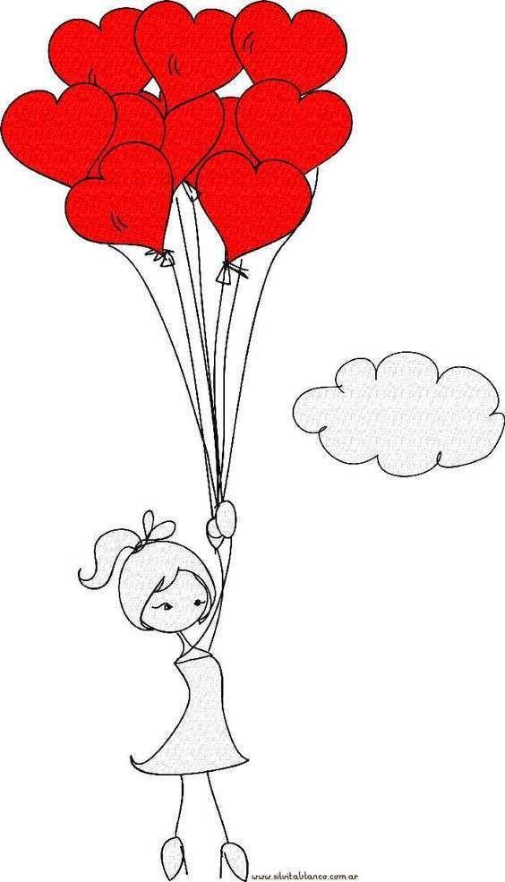Adorable Imagen Para El 14 De Febrero Dibujos De San Valentin Dia De San Valentin Dibujos