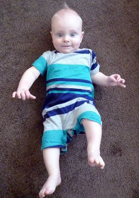 Feather's Flights {a creative, sewing blog}: Baby Shortall From Adult T-Shirt: Pattern and Tutorial