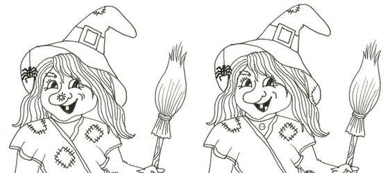 Čarodějnice – hledej rozdíly – Dětské stránky
